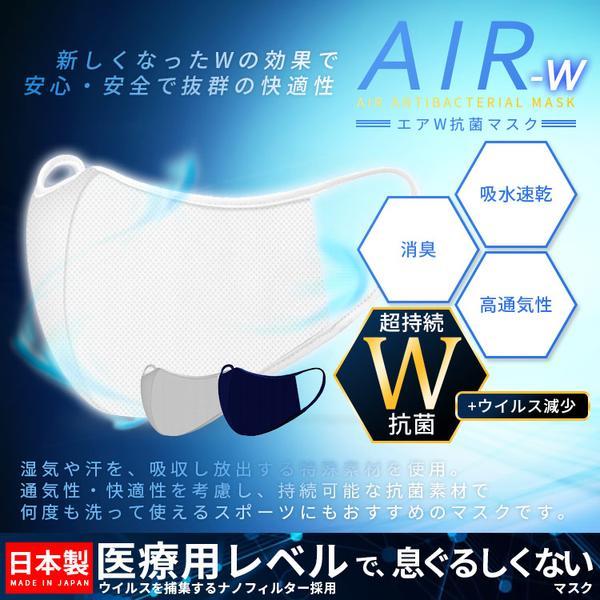 エアW抗菌マスク
