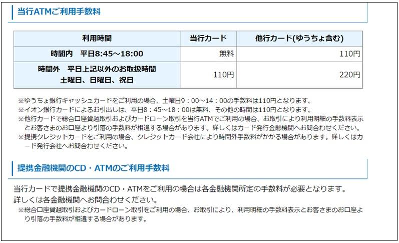 滋賀銀行ATM手数料